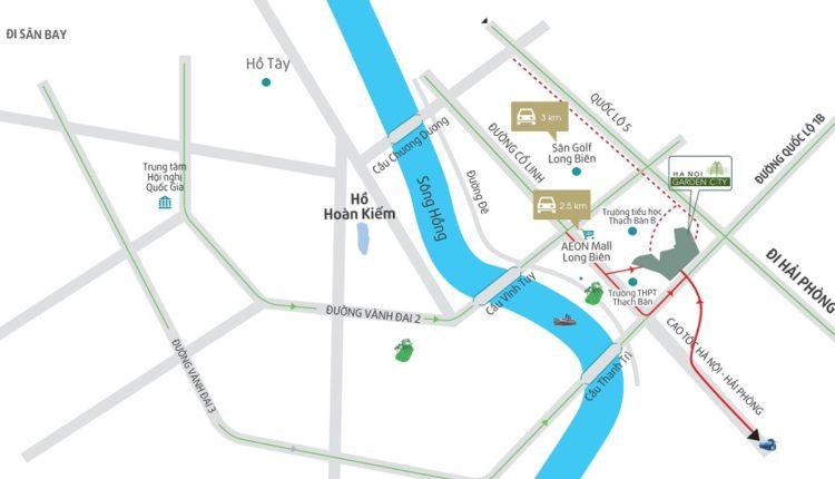 Vị Trí Hà Nội Garden City Thạch Bàn